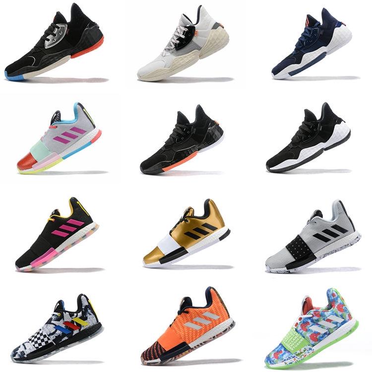 《現貨》哈登3代籃球鞋4代圣誕鴛鴦全明星2代首發運動鞋boost夏季實戰戰靴