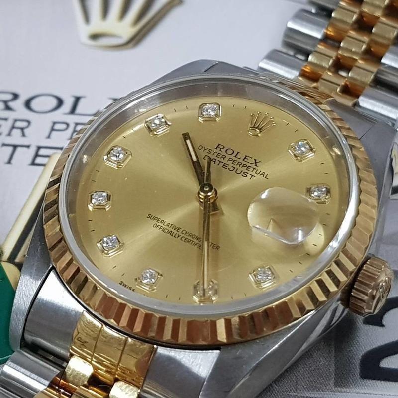 ROLEX勞力士 蠔式半金 新包台鑽 16233錶徑36mm 自動機械 包台十鑽金面盤