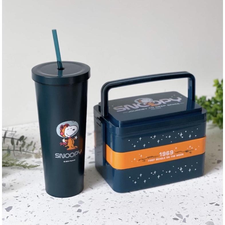 漫遊太空系列餐盒 吸管杯 7-11 史努比SNOOPY 米奇 迪士尼系列