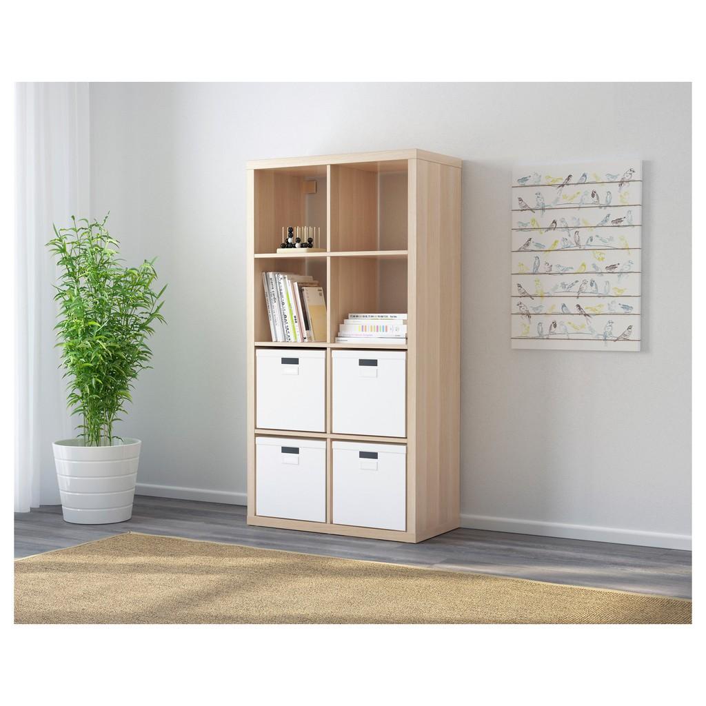 北歐工業LOFT風格經典IKEA宜家KALLAX層架組/收納架收納櫃邊櫃/染白橡木紋/二手八成新/特$1500