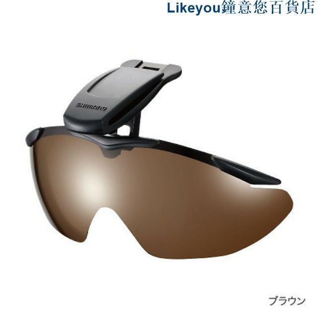 【正欣漁具】Shimano HG-002N 褐色/黑色 夾帽太陽眼鏡 偏光鏡