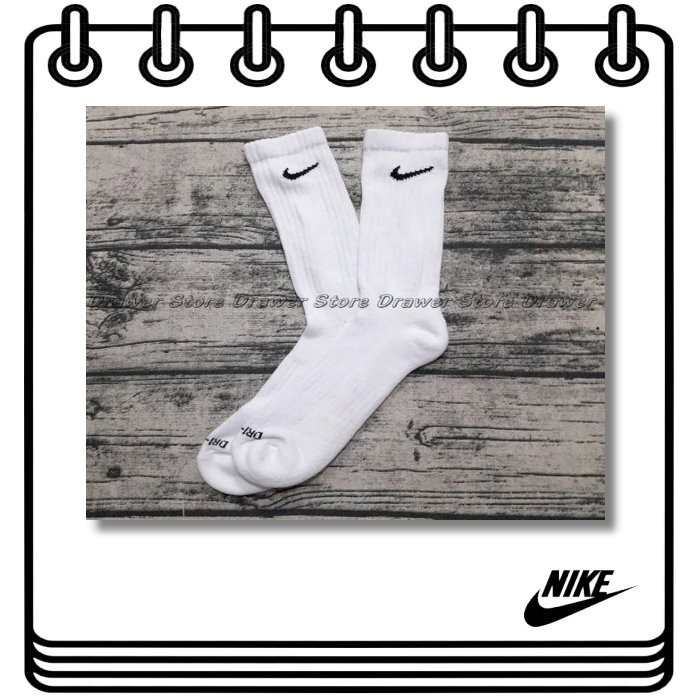 【Drawer】買五送一NIKE DriFIT nike白襪 長襪 nike長襪nike籃球襪 運動襪 NIKE運動襪