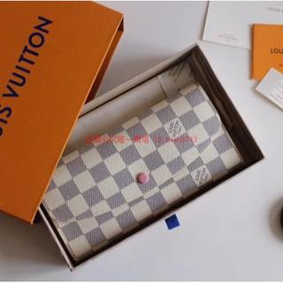 LV 路易威登2020新款M61289 白棋盤格 長夾 小卡包零錢包 零錢包 時尚休閑 錢包 卡夾 新北市
