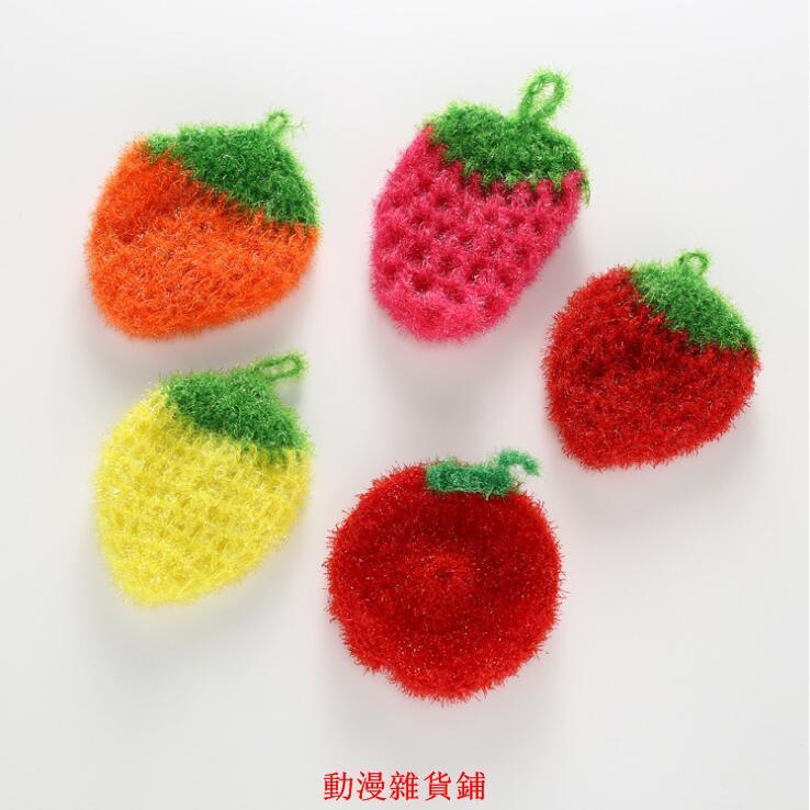 限時下殺 韓國熱銷創意手工加厚吸水抹布草莓洗碗巾清潔布廚房洗碗毛巾 擦桌布 擦碗布 洗碗布 可掛 廚房清潔 居家生活