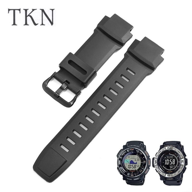 【錶帶】代用卡西歐PRG-260/500 PRW-3500/2500/5100男運動樹脂橡膠手錶帶