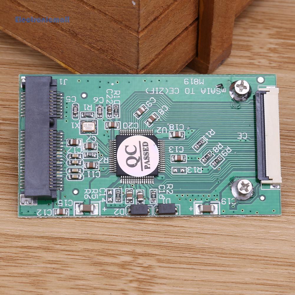 ElectronicMall01  1.8寸msata轉CE|ZIF接口轉卡|1.8吋SSD硬盤轉CE msata轉ZI