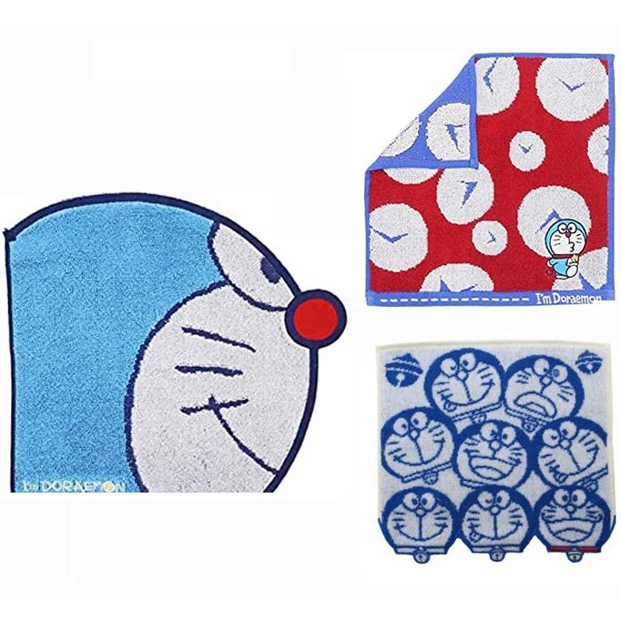 日本代購 現貨正版 丸真 日本哆啦a夢正版迷你手帕 小方巾 毛巾