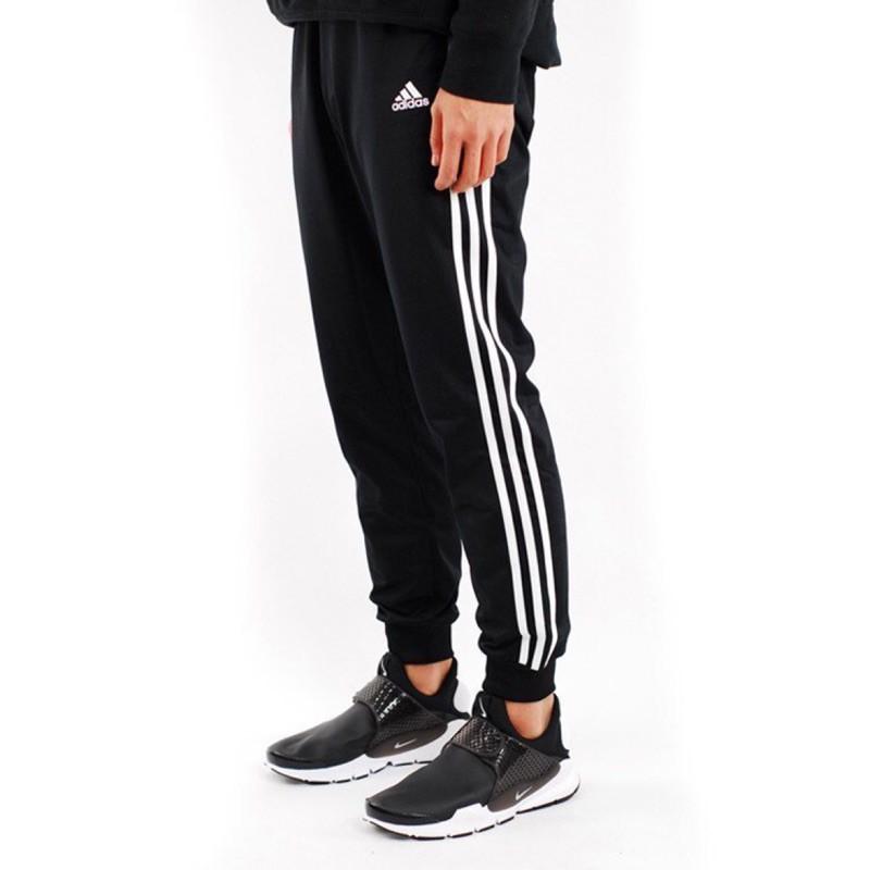 Adidas 基本款 三線條 縮口褲 bk7396