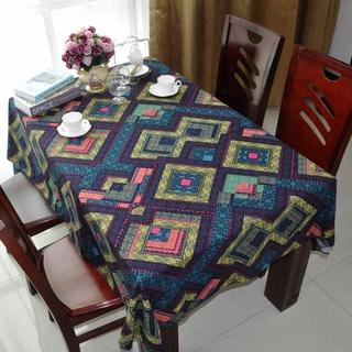 【熊熊家居】包郵棉麻布藝美式四方條形桌布四方型桌布長條鋪桌布罩座布餐桌布 屏東縣