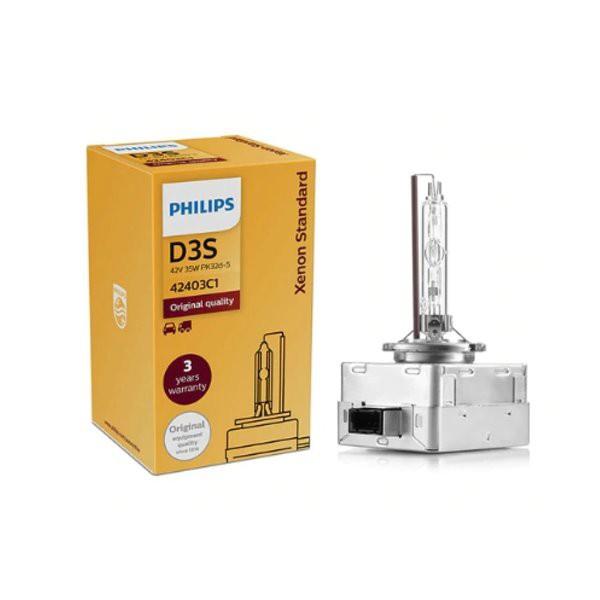 德國PHILIPS 飛利浦 彩盒裝 4200K 42403C1 D3S 4200K HID氙氣燈管