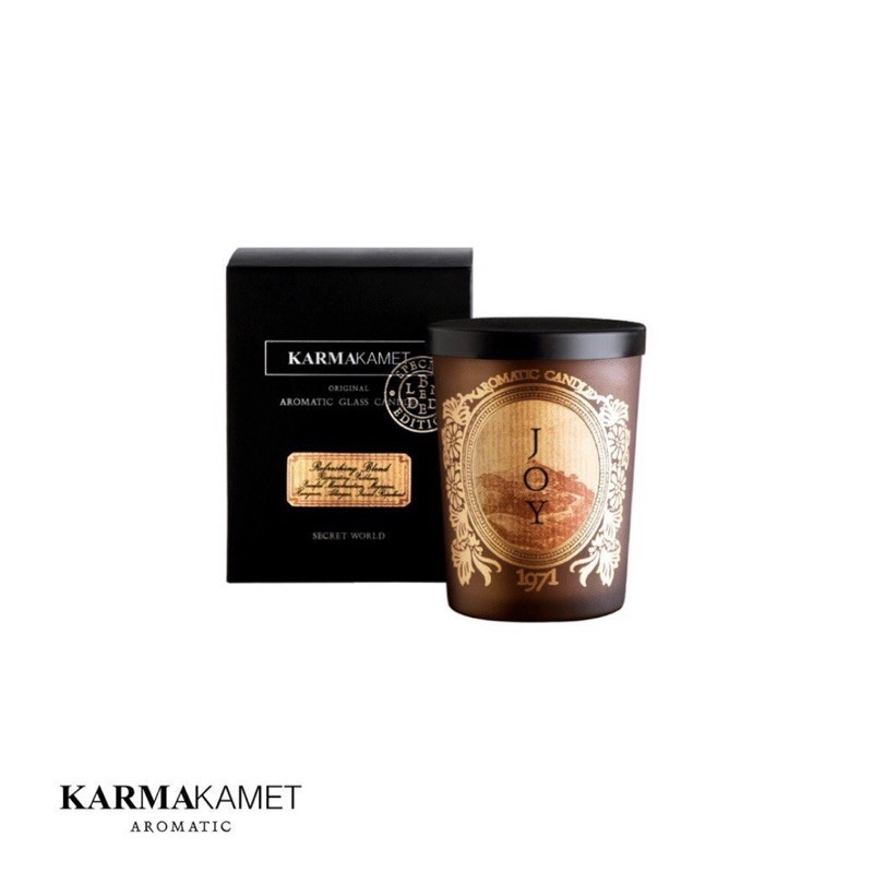 「現貨」泰國karmakamet琉璃蠟燭-橙花/紅茶/石榴/白茶