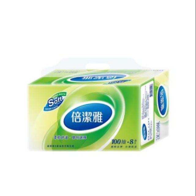 倍潔雅超質感抽取式衛生紙100抽80包