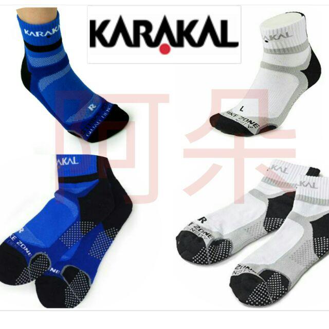 [阿朵] 台灣製 英國KARAKAL X4 ANKLE 止滑襪 羽球襪 網球襪 厚底襪 毛巾襪 1/2筒 中筒 止滑顆粒