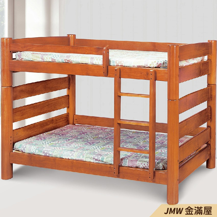 [免運]雙層床 上下舖 雙人5尺 標準單人 全實木 鐵床鋪-E180-2