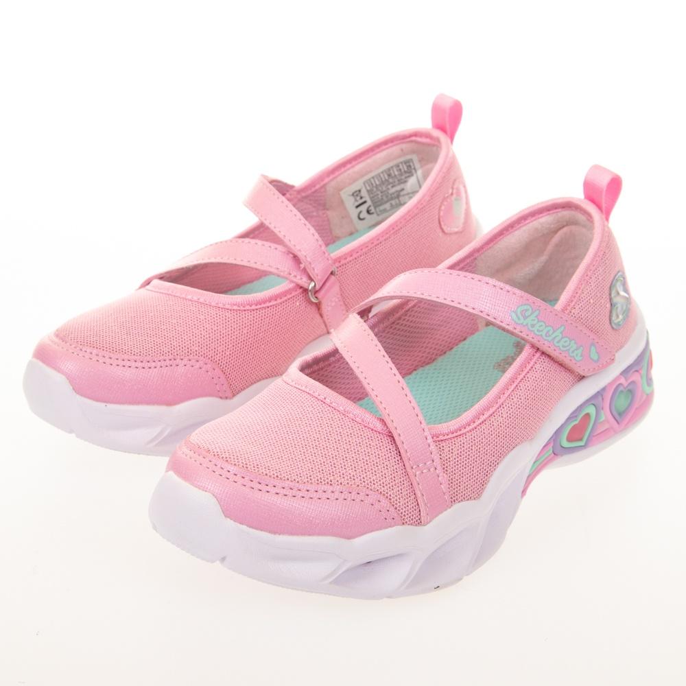 SKECHERS 女童系列 SWEET HEART LIGHTS 燈鞋 - 302303LPNK