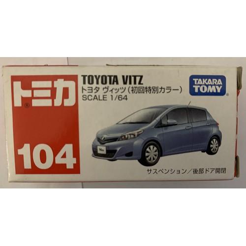 《TOYOTA》 TAKARA TOMY VITZ YARIS 104 初回特別版 絕版 模型車
