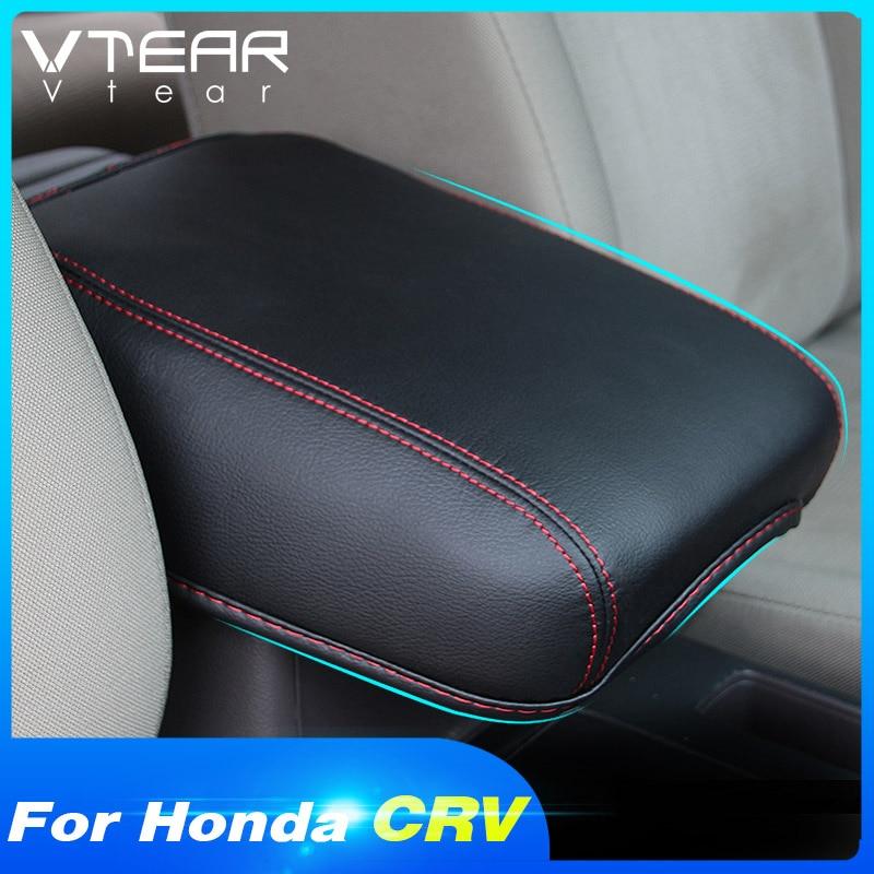 HONDA Vtear 扶手套內部中央控制台盒座套 Pu 皮革保護內飾配件, 用於本田 Crv C-Rv