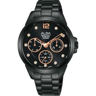 ALBA 雅柏 VD75-X123SD(AP6641X1) 時尚百搭潮流女錶/  黑 36mm 高雄市