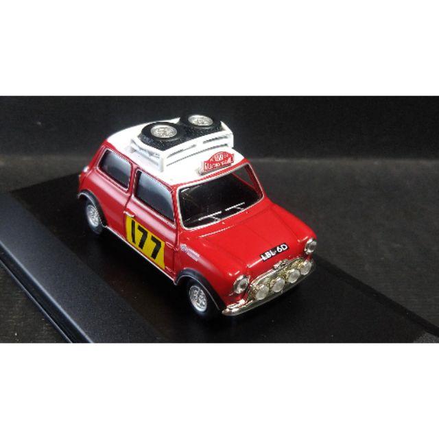 【經典車坊】1:43 1/43 Austin Mini Cooper S 1967蒙地卡羅越野賽車模型 by UH