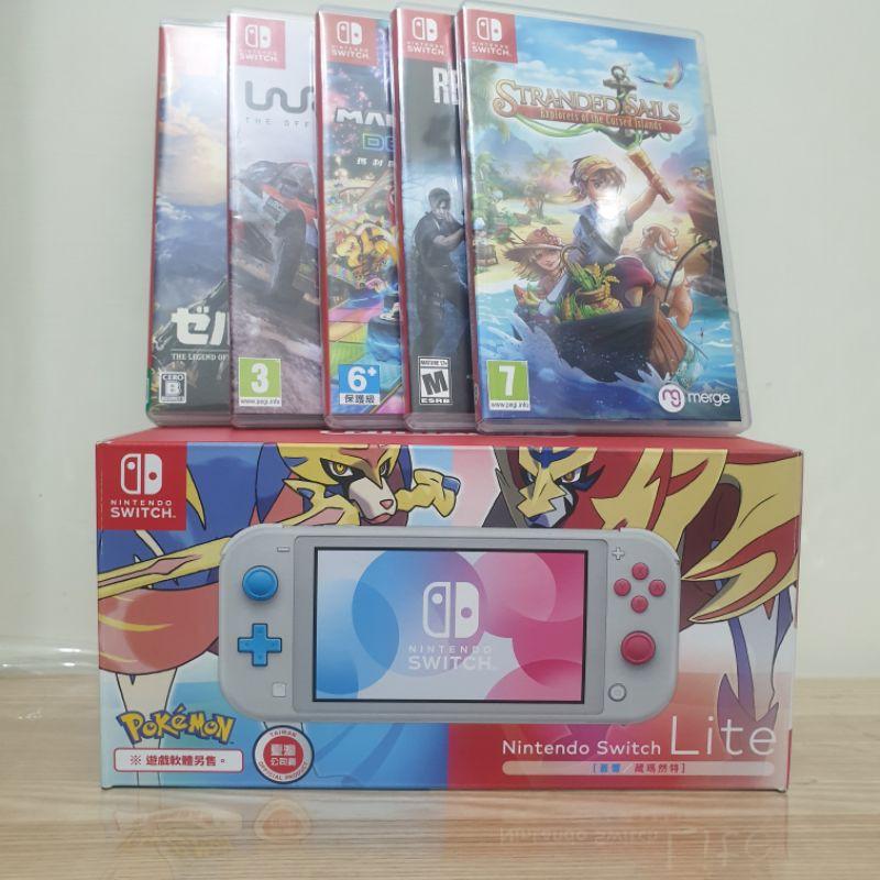 Nintendo Switch Lite 主機 {蒼響/藏瑪然特} 寶可夢 劍與盾 附5片遊戲片,可拆賣.
