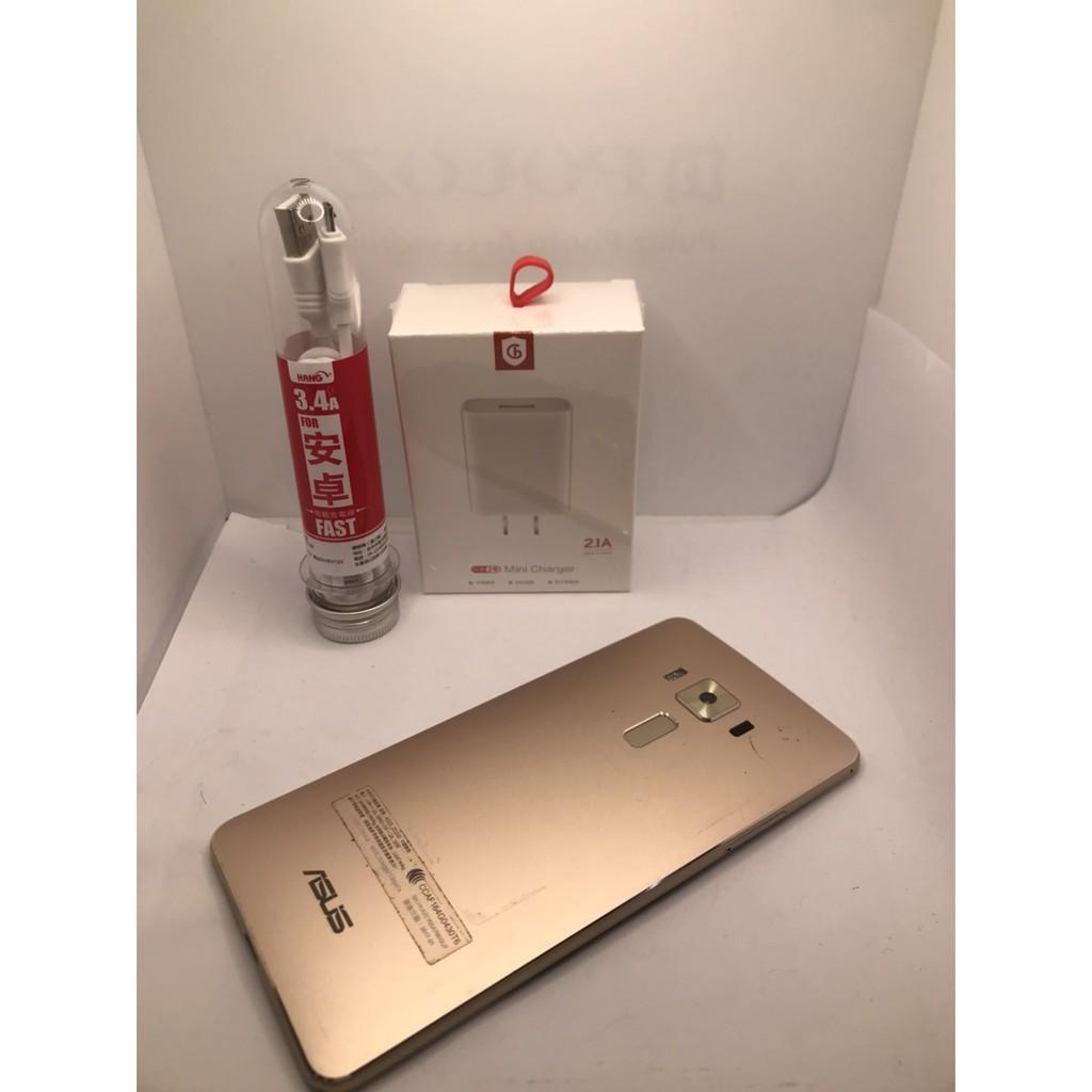 二手機 中古 Asus Zenfone 3Deluxe 5.7吋 32g/64G 金色A2313 0249 012
