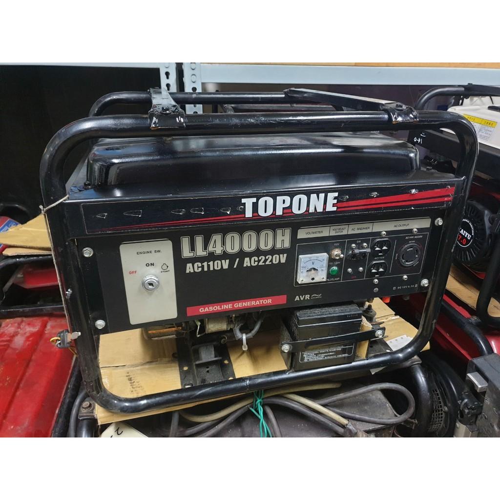 [二手發電機] TOPONE LL-4000H 4000W發電機 引擎電動/手拉發電機 中古發電機