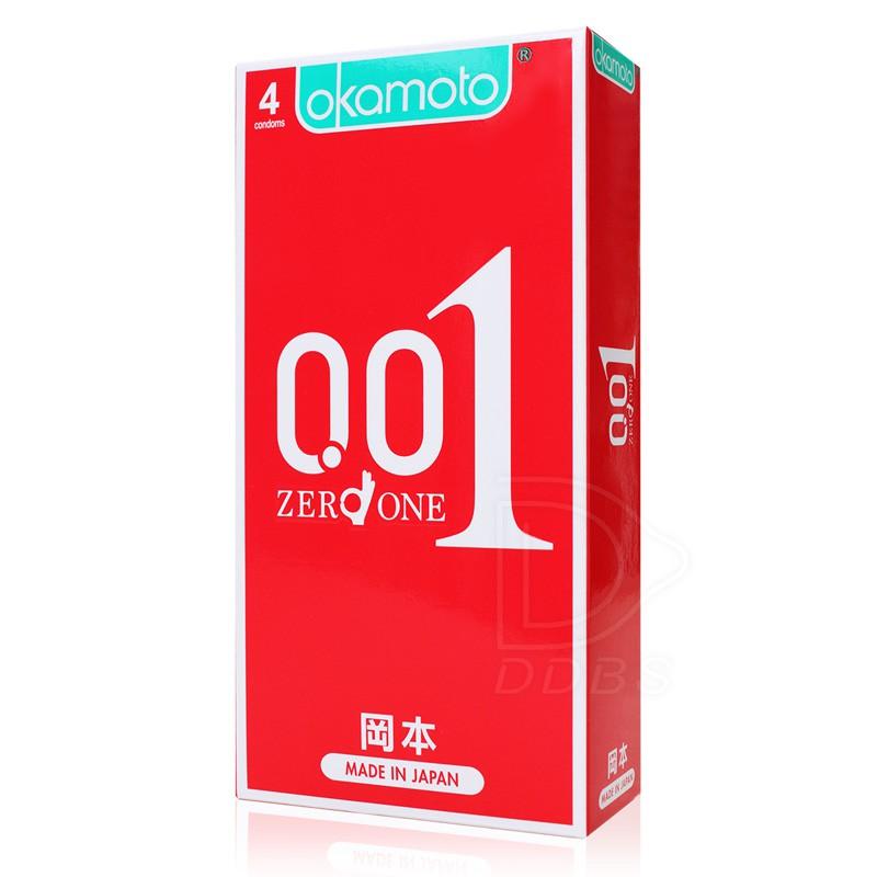 岡本 001 至尊勁薄 4入裝 0.01/保險套/衛生套/大尺碼/HYDRO/情趣/Okamoto