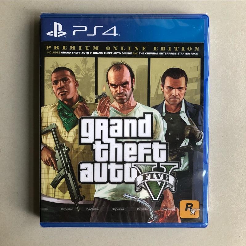 現貨全新未拆 PS4遊戲 GTA5 俠盜獵車手5 中文版 豪華版 GTA 5 Grand Theft Auto V