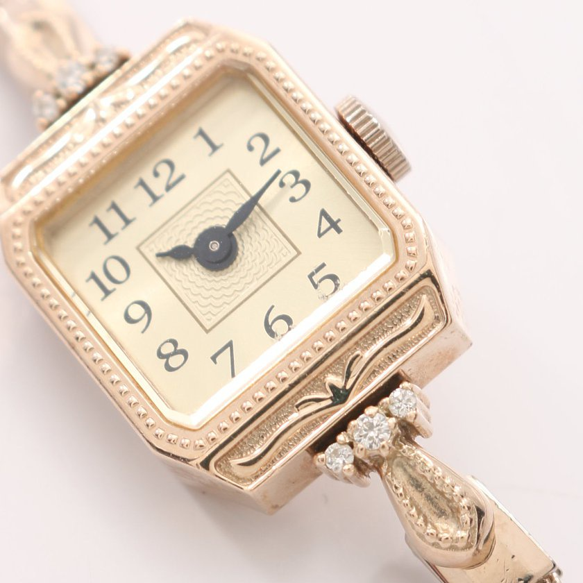 Agete Classic 10k金珠寶錶 手錶  手表 鏈條 nojess ete正品 有盒有保卡