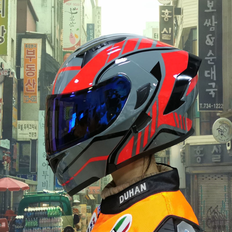 🌟🌟免運/下殺價 ORZ 揭面盔機車全罩安全帽防曬透氣雙鏡片 3/4揭面盔 可樂帽 可掀全罩式加大尾翼 機車安全帽