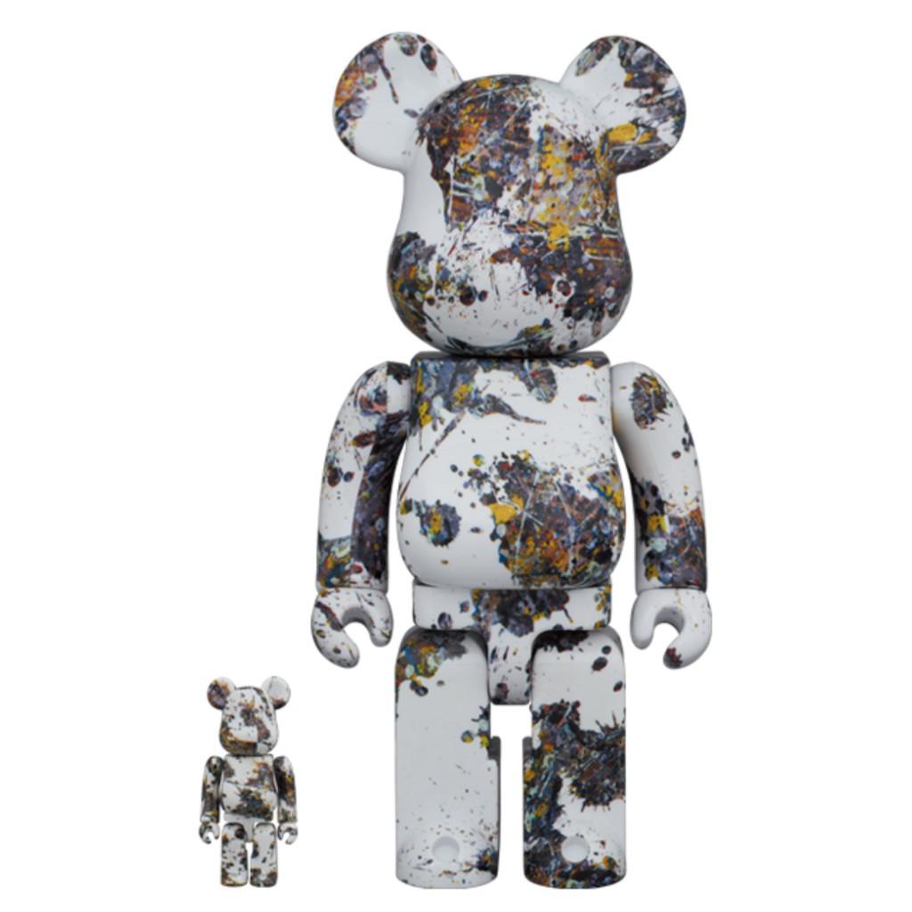 現貨 Be@rbrick 400% 100% Jackson Pollock Studio(SPLASH) 潑墨 三代