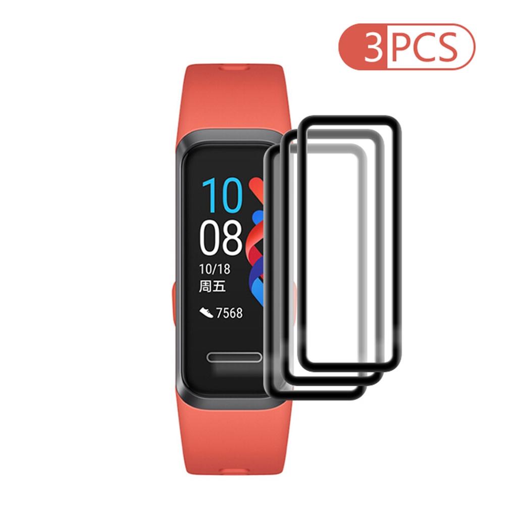 華為 Sy (熱賣) 3pcs 透明超膜鋼化 Pet 軟屏保護膜, 適用於 Huawei Band 4 / 4pro