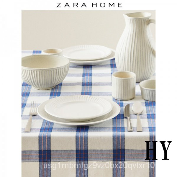 【桌布】Zara Home 格紋北歐桌布餐桌墊 426400219991
