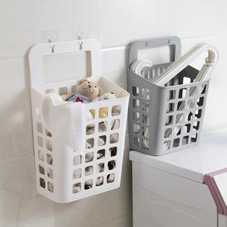 ❂◕❈冰箱吸盤掛式臟衣籃臟衣服收納筐浴室塑料收納籃大號臟衣簍洗衣籃收納籃收納盒儲物盒