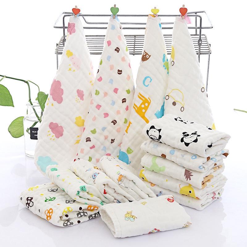 金寶貝/大號30*30兒童純棉6層紗布柔軟透氣寶寶洗臉毛巾嬰幼兒褶皺小方巾