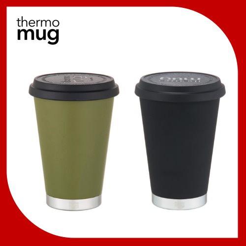 (含稅) Thermo Mug 日本 大口徑保溫隨行杯 保溫杯 350ml 森林綠 低調黑 海軍藍 米色 (全新品)