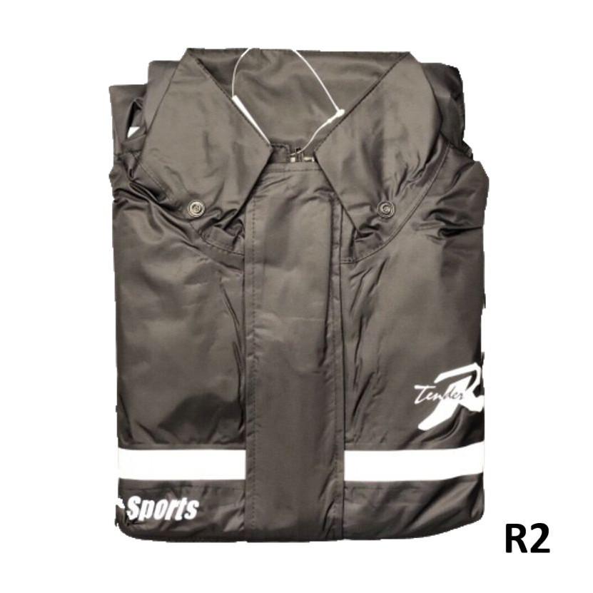 天德牌雨衣 R2 黑 終極完美版 兩件式風雨衣 隱藏式雨鞋套 100%正品《淘帽屋》