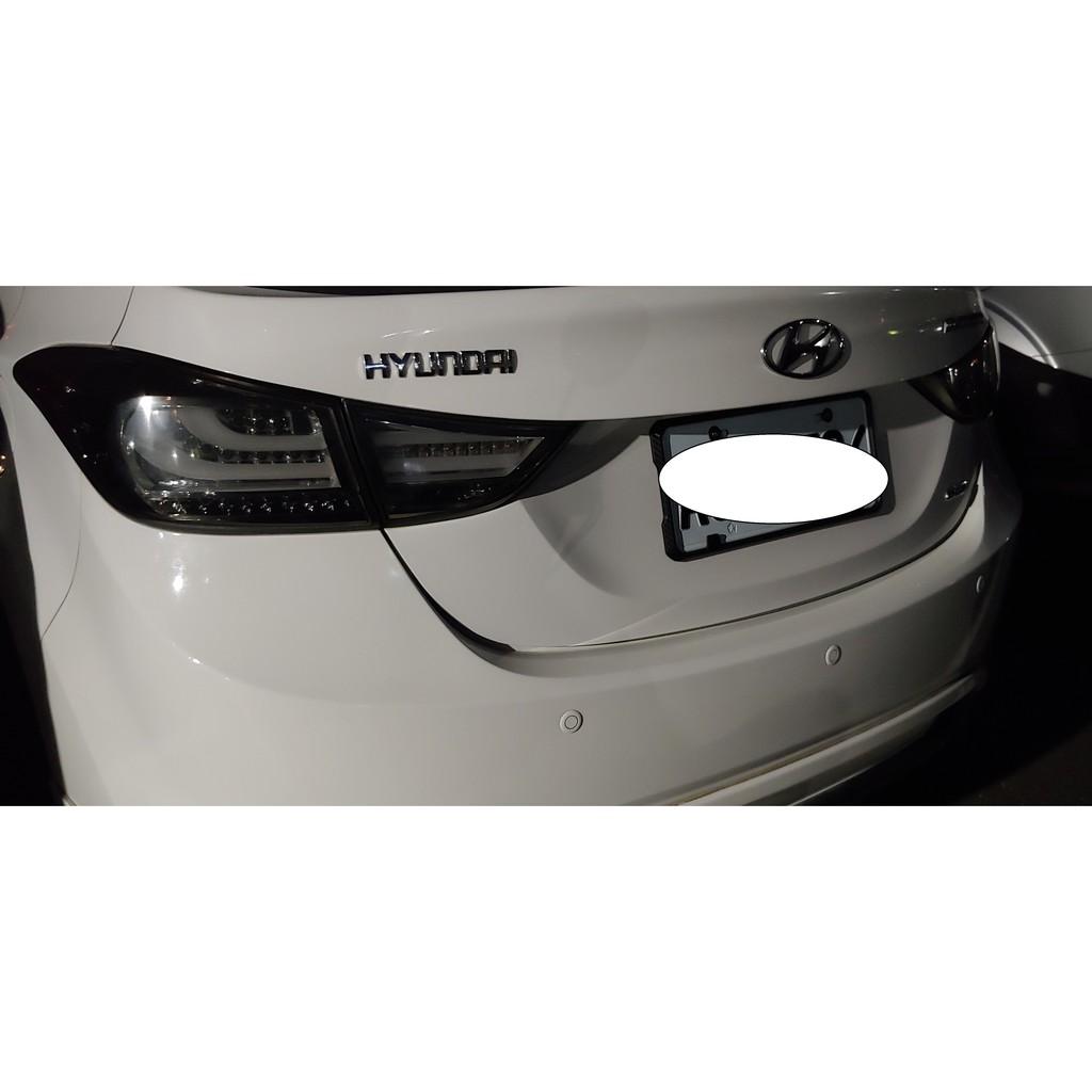 Hyundai ELANTRA 2014 極光版 向新 燻黑 尾燈 非整組