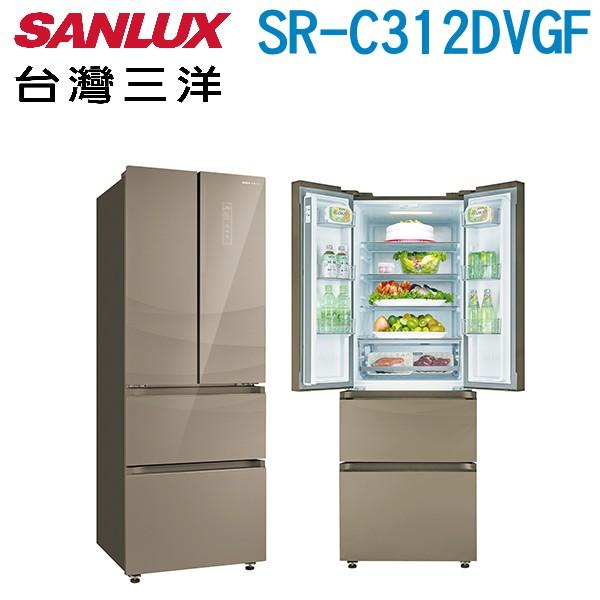 SANLUX 台灣三洋 312L 1級變頻四門電冰箱SR-C312DVGF