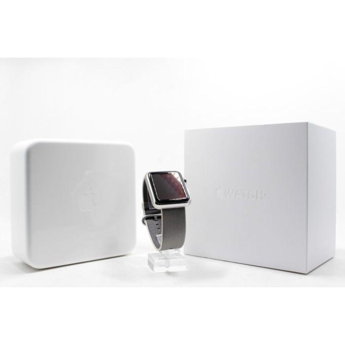 【青蘋果3C】Apple Watch SERIES 1 不鏽鋼 42mm 尼龍織紋錶帶銀色 #14445