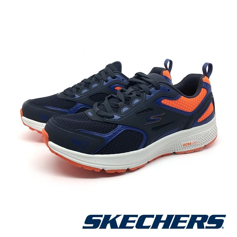 【SKECHERS】慢跑系列 GORUN CONSISTENT-220081NVOR - 藍橘 男 - 原價2590元