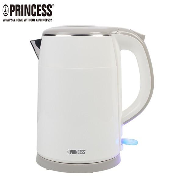 PRINCESS荷蘭公主 1.5L不鏽鋼雙層防燙快煮壺(白) 236070 免運