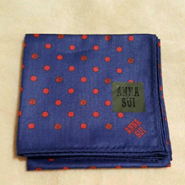 全新 日本帶回 Anna sui 手帕 領巾 絲巾 口水巾 日本製