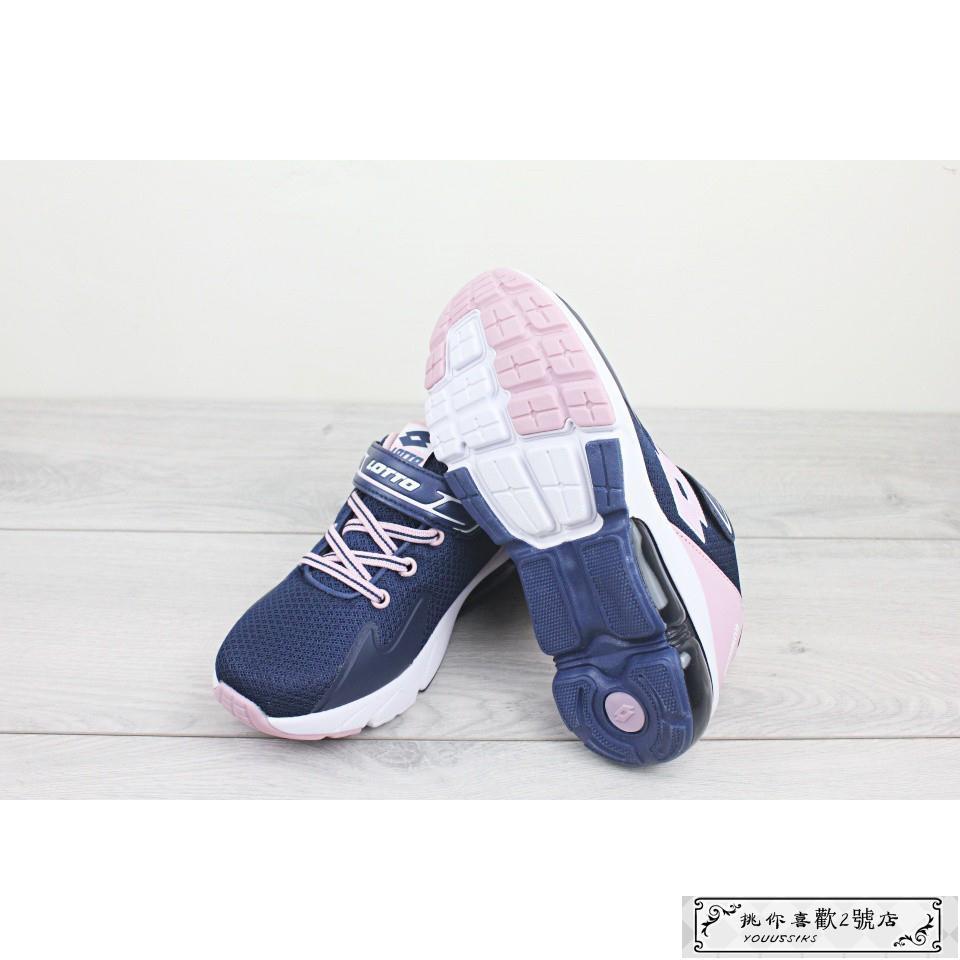 [NN]  LOTTO 樂得 寬楦 加厚氣墊  慢跑鞋 魔鬼氈  運動鞋 跑步 童鞋 大童鞋 女童[S30]