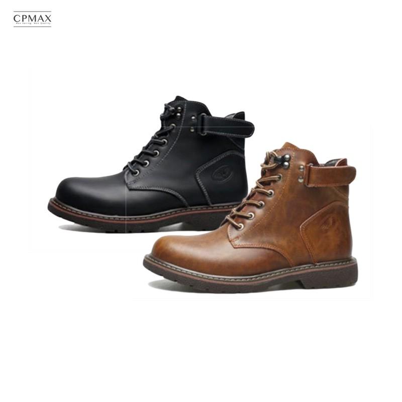 CPMAX 粗獷工藝新時尚 真皮厚底高筒歐美馬丁靴 男靴 靴子 高筒靴 皮靴 皮鞋 厚底鞋 工裝靴 馬丁靴 【S46】