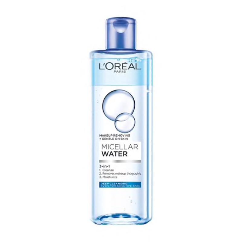LOREAL巴黎萊雅三合一卸妝潔顏水(深層極淨型) 400ml