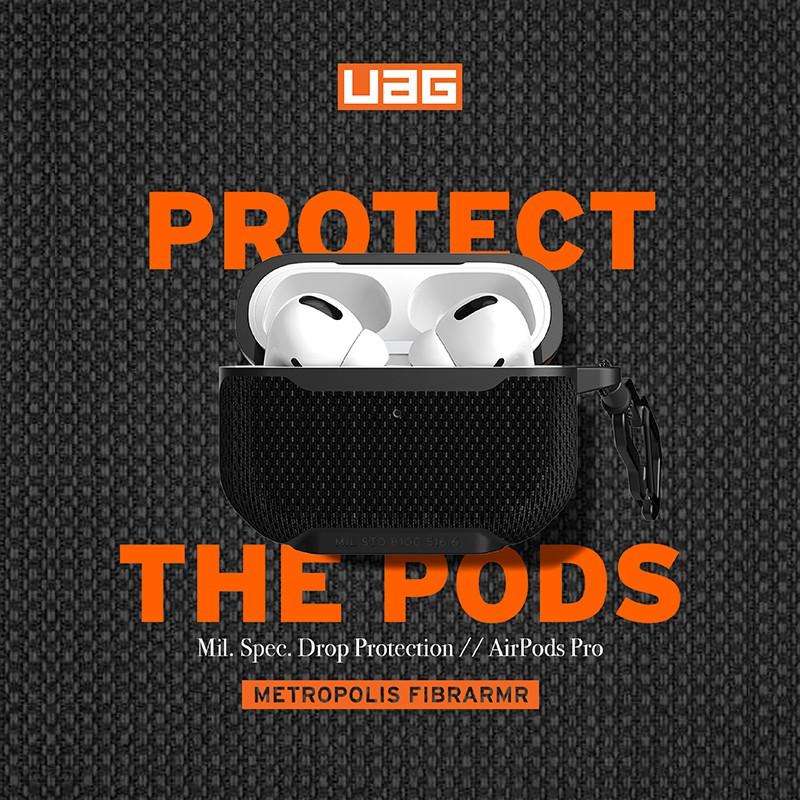 UAG AirPods Pro 耐衝擊防彈纖維保護殼(軍用黑)台灣公司貨