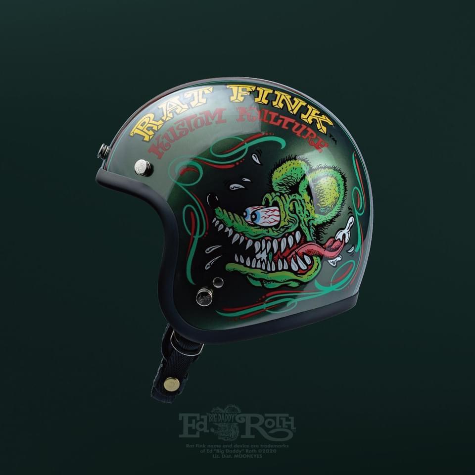 Gallop X Rat Fink 老鼠芬克 限定聯名款 安全帽 (橄欖綠) 化學原宿