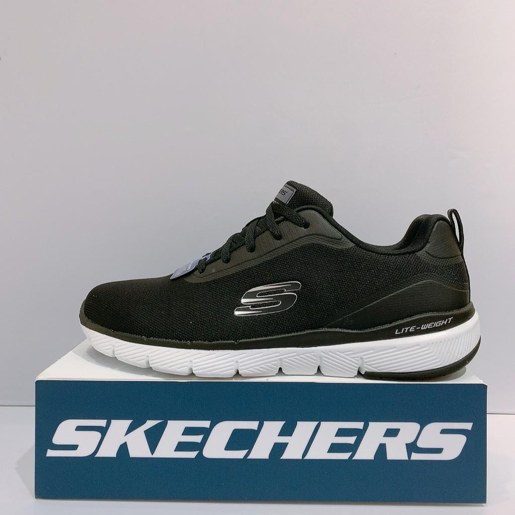 SKECHERS FLEX ADVANTAGE 3.0 男生 黑色 舒適 透氣 慢跑鞋 52751BLK