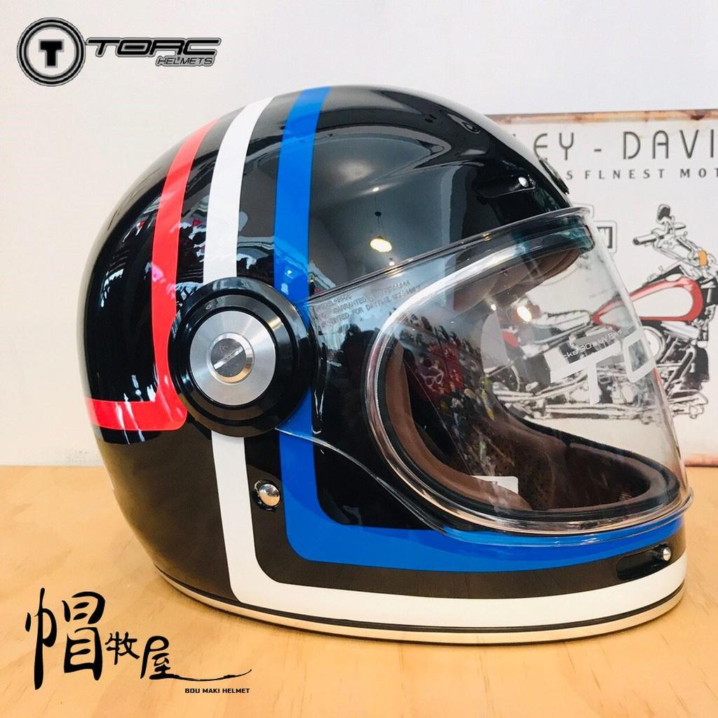 【帽牧屋】美國 TORC T1 AMERICANA TRON 全罩 安全帽 復古帽 樂高帽 玻璃纖維 黑